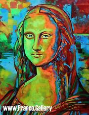 Mona Lisa signed limited Edition giclee print on canvas, Leonardo da Vinci