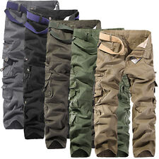 Stylish Men's Pants Casual Pocket Loose Straight Trousers Long Pants NEW