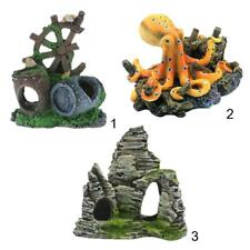 Assorted Resin Fish Tank Aquarium Background Decorative Ornaments Fish Cave