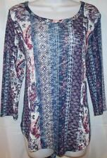 NEW WOMENS PLUS SIZE 1X 2X 3X LACE UP BACK PAISLEY FLORAL LONG TUNIC TOP SHIRT