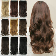 24inch Remy Hair Long and Wavy Synthetic Hair Extension Clip in Hair Extensions