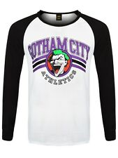 Joker Batman Team Men's Black & White Baseball Long-sleeve T-Shirt