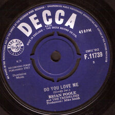 "Brian Poole And The Tremeloes-Do You Love Me 7"" 45-DECCA, F.11739, Plain Sleeve"