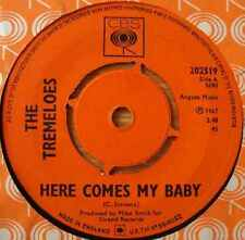 "Tremeloes, The-Here Comes My Baby 7"" 45-CBS, 202519, 1967, Plain Sleeve"