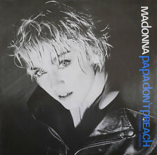 """Madonna-Papa Don't Preach 12""""-Sire, W 8636(T), 1986, Picture Sleeve 3 Track"""