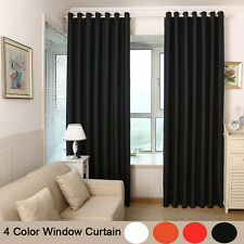 2pcs Solid Colored Curtains Eyelet Ring Top Ready Made Tieback 4color Local Post