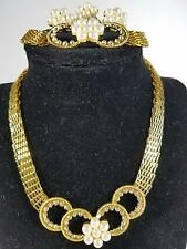 Mothers Day Rhinestone Necklace Earring Bracelet Ring 18K Gold Plated Jewelry