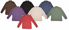 Polo Ralph Lauren Men's Interlock MED-FIT Long Sleeve Polo Shirt Solid All Size