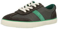 Clarks CLUB WALK Boys Grey Leather Lace / Zip Trainer Shoes 7- 3 Jun G Fit BOXED