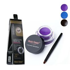 Sexy Makeup Set Cosmetic+Brush Waterproof Lasting Eye Liner Eyeliner Shadow Gel