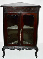 Victorian Carved mahogany Corner Display Cabinet - FREE Shipping [PL3191]