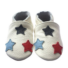 New Soft Sole Leather Baby Crib Shoes Toddler Indoor Play Non-Slip Shoes 0-24M