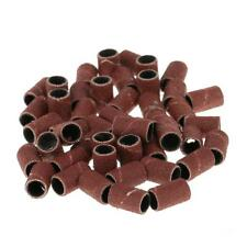50pcs 80# 120# 180# Grit Sanding Bands Drill Machine Replacement Bits for Nail