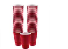 RED PARTYWARE CUPS,PLATES,NAPKINS-WEDDING ANNIVERSARY BIRTHDAY PARTIES