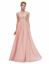 CUSTOM MADE Grace Karin Bridesmaids Chiffon Ball Gown Evening Prom Party Dress