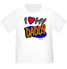 YOUTH KIDS T-SHIRT I Love Heart My Daddy