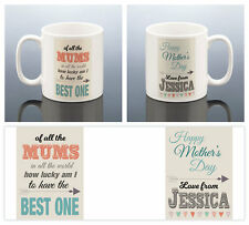 BEST MUM MOTHERS DAY MUG Personalised Gift Mummy Present Mom Mommy Mama Mother's