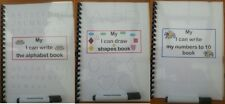 WIPE CLEAN  BOOKS CHOICE OF 3 numbers alphabet & shapes helps with fine motor