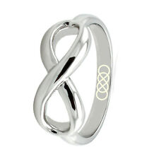 Sterling Silver 925 Double Infinity Symbol Infinity Fashion Wedding Ring