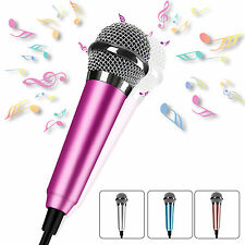 3.5mm Wired Mini Cell Phone Microphone Stereo Mic for Chatting/ Singing Portable