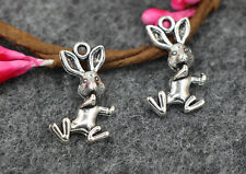 wholesale 10/40pcs Retro 20x12mm Style rabbit Tibet silver alloy Charms Pendants