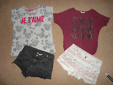 GIRLS LOVELY SUMMER SHORTS & TOP BUNDLE AGE 12-13 YEARS - H&M, TAMMY
