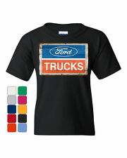 Ford Trucks Logo Vintage Sign T-shirt F150 - Officially Licensed Men's Tee - NEW