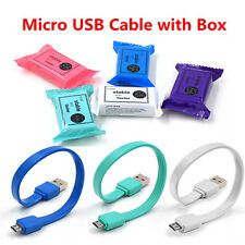 20CM Over 2A Quick Charging Wire USB 2.0 Micro USB Flat Data Sync Charger Cable