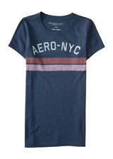 aeropostale womens aero-nyc stripes graphic t shirt