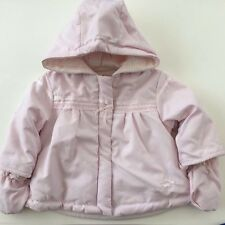 Coco 3843 Baby Girls Pink Padded Coat with Mittens