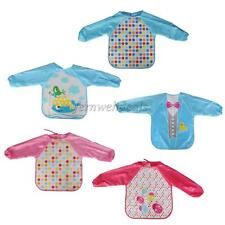 Lovely Cute Baby Toddler Childen Waterproof Long Sleeve Bib Apron For Boy & Girl