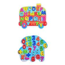 Kids Cartoon Wooden Puzzle Wooden Blocks Learning Letters / Arithmetic Toys