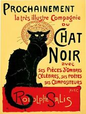 NEW CHAT NOIR VINTAGE STYLE NOSTALGIC METAL WALL SIGN GIFT