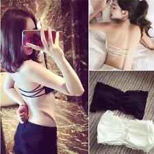 Sexy Women Girls Lace Strapless Padded Bandeau Tube Tops Bra Cami Vest Tank Tops
