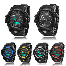 OHSEN Men Quartz Waterproof Alarm Date Sport LED Digital Chronograph Wrist Watch
