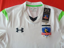 NWT COLO COLO UNDER ARMOUR FITTED MENS MD OFFICIAL WHITE OFFICIAL SOCCER JERSEY