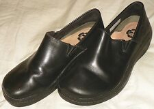 TIMBERLAND PRO RENOVA SLIP-ON Women's Size 9 Black Leather WORK Clogs Shoes EUC