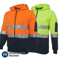 Mens Hi Vis Day Night Fleecy Hoodie Jacket Workwear Size S-5XL Safety New 6DNH