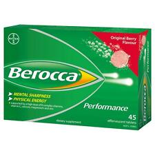 Berocca Performance 45 Effervescent Tablets (Original Berry, Orange & Mango)