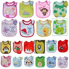 Infant Baby Towel Saliva Waterproof Kid Cartoon Print 3 Layer Toddler Lunch Bibs