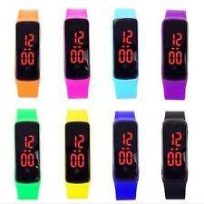 Girls / Boys LED Silicone Touch Screen Ultra Thin Jelly Digital Sports Watch XG