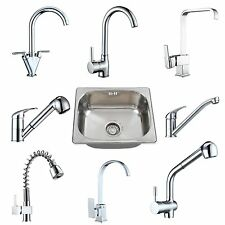 Modern Kitchen Basin Laundry Sink Tap Brass Kitchen Faucet Stainless Steel Sink