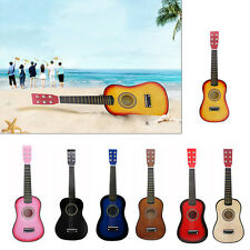 New 23 Inch Children Kids Wooden Guitar Multicolor Instrument Acoustic Toy