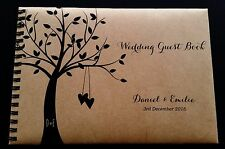 A5 Personalised Guest Book Country Rustic Theme in Window Box + Optional Sign