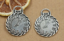 3/15/60pcs Tibetan Silver Clocks and watches Jewelry Charms Pendant 34x26mm