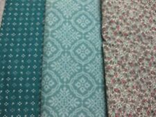 F-2017 3-36,37 or 38 (your choice) Cotton Fabric-teal tones-See listing photos