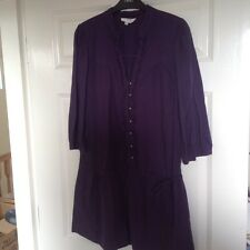 Oasis ladies size 12 purple button fronted tunic dress
