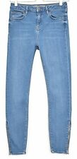 Topshop SUPER SKINNY JAMIE High Waisted Blue Stretch Jeans Size 10 W28 L30 L32