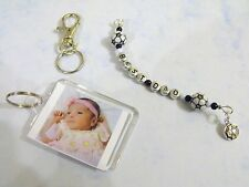 Hand-made personalised beaded keyring, bookmark. Men/ boy's Gift. Any Name/style