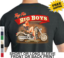 Biker American Classic Motorcycle Toys Custom Chopper Big Boys Mens T Shirt